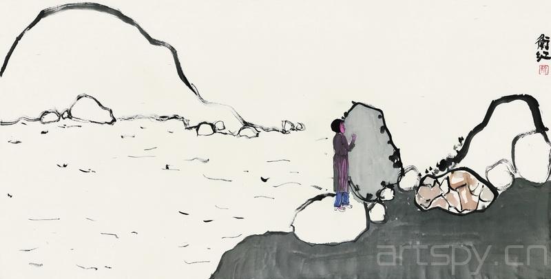 靳卫红《风景》水墨