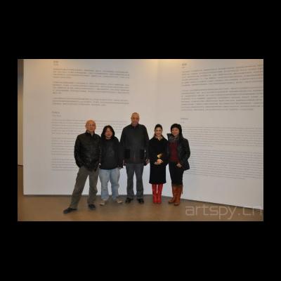 崔岫闻与歌德学院院长、艺术家靳卫红、策划人俞可