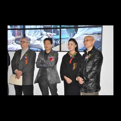 法国评论家米歇尔今日美术馆馆长张子康艺术家崔岫闻策展人俞可在开幕式上DSC_0289