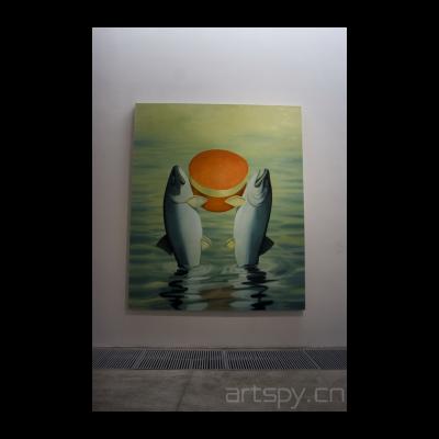 赵赵 奉献,2010 油画 250×300厘米