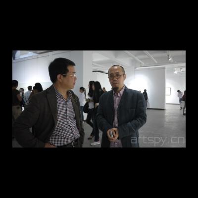 艺术家张浩与批评家牛宏宝.