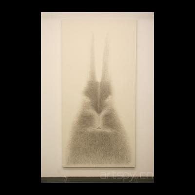 水墨兔肖像之二,2012