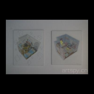 张杰东作品《漂浮的空间No.1》《夜阑静》