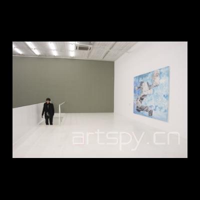 熊宇 《泛蓝的水流 》布面油画