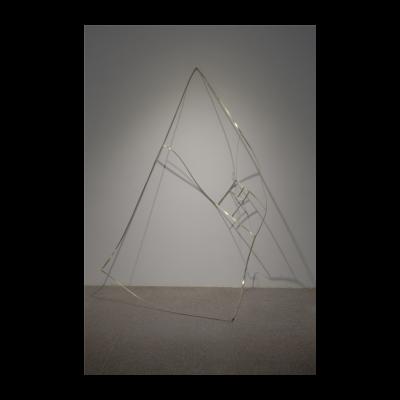 徐渠,《零点六一八》,黄铜锻造激光切割,262×163cm,2014