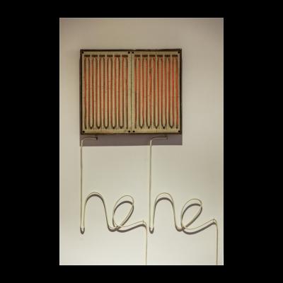侯勇《呵呵》,50×50×6cm 尺寸可变,2014