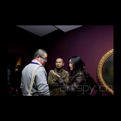 左起一 艺术家 陈飞 曹静萍 艺术眼黄珊