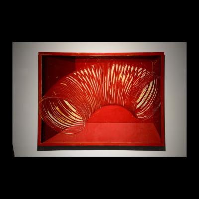 冷广敏 《红色内部的弹簧》 2015